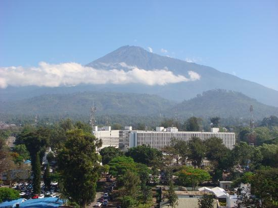 view of Arusha and Mount Meru
