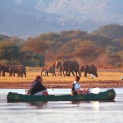 Canoeing at Lake Manyara